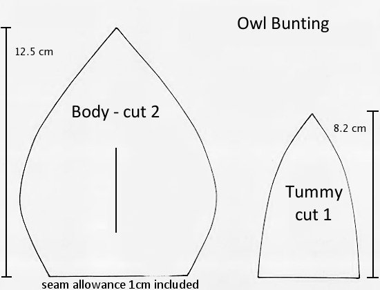 Pattern For Bunting