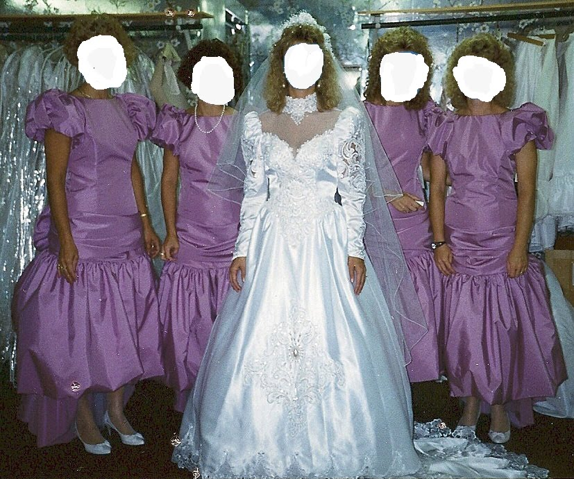 Worst Bridesmaid Dresses - High Cut Wedding Dresses