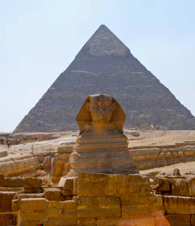 Great Sphinx Pyramid of Khafre Giza Egypt