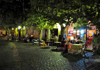 Barrio Historico at Night Colonia del Sacramento Uruguay