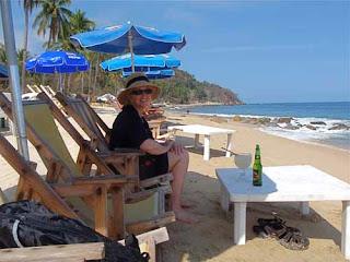 Pat Dunlap Playa Los Animas Puerto Vallarta Mexico Palapa Day