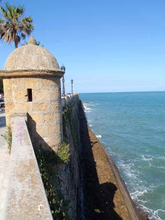Sea Walls of Cadiz Spain