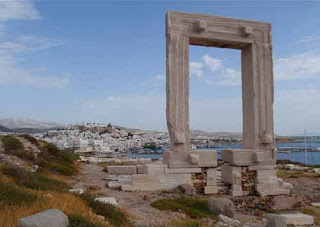 Portara Great Door Naxos Greek Islands Greece