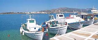 Boat Dock Antiparos Greece