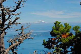 Mt Ranier Orcas Island Washington USA