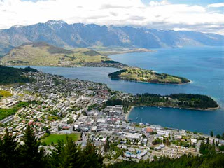 Areal View Queenstown New Zealand