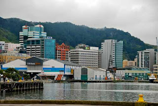 Colorful Waterfront Wellington New Zealand