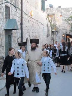 Haredi Jewish Family - Jerusalem, Israel