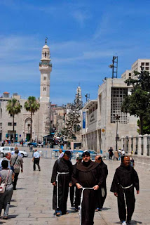 Christian Monks at Manger Square  - Bethlehem, Palestinian Authority (PA)