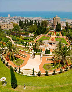 Beautiful Bahai Gardens Haifa Israel