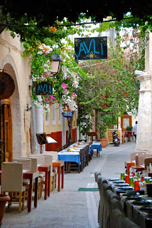 Shopping Street Rethymno Crete Greece