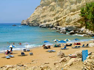 Nude Naked Red Beach Matala Crete Greece