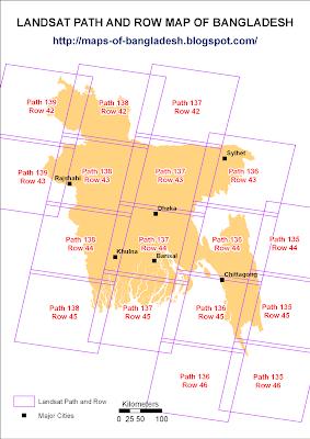 landsat path row map Maps Of Bangladesh Landsat Path And Row Map Of Bangladesh landsat path row map