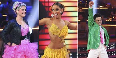 Kelly, Mya and Donny compete in the Dancing With The Stars Finale