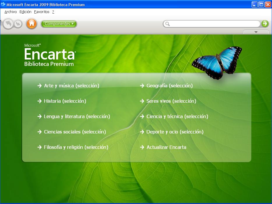 Descarga de software Microsoft Encarta Premium 2009