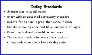 Agile in a Flash: Coding Standards