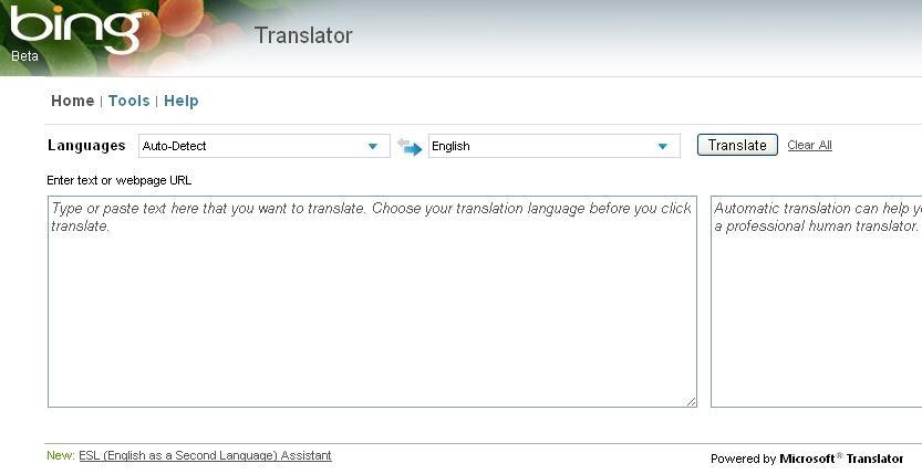 Basit's Tech Bin: Translation As A Service: Microsoft