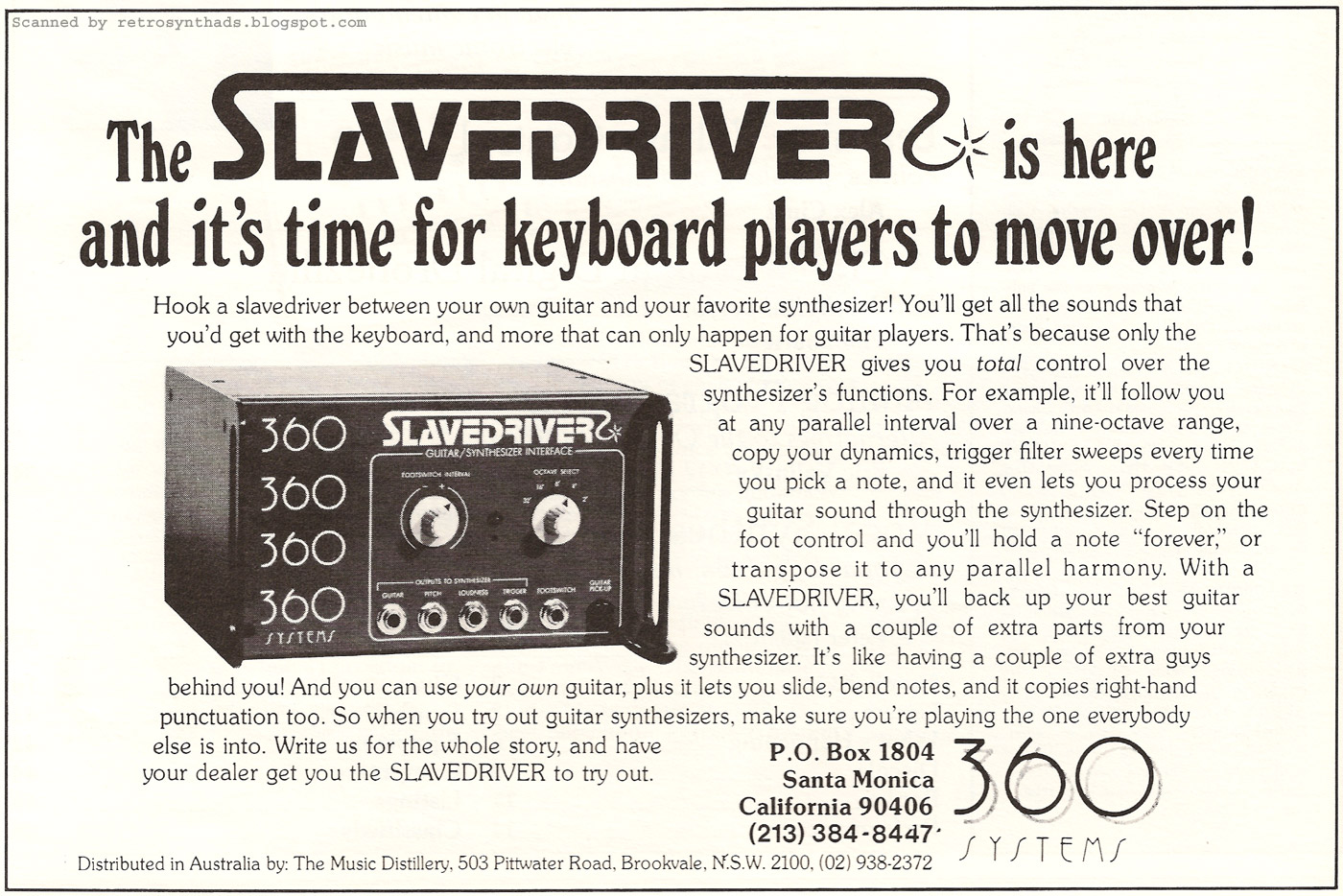 is there a MIDI equivalent to 360 systems slavedriver? - Vintage