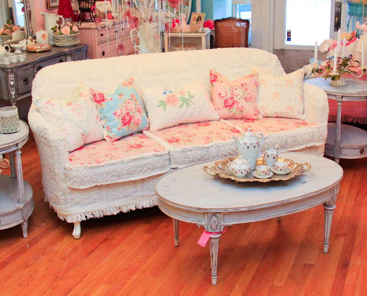 chic sofas 60 inch sofa table vintage furniture schenectady ny omg antique