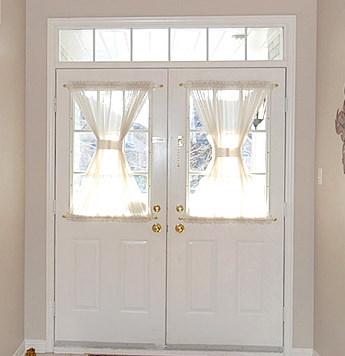 window covering for front door