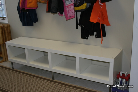 Ikea Hack Easily Convert Expedit Shelf To A Bench