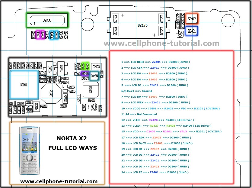 Nokia X3 Circuit Board Schematic Diagram Pcb Layout Index listing