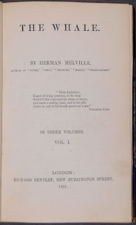 "A title page for ""The Whale"" by Herman Melville."