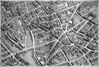 An aerial illustration of Paris.