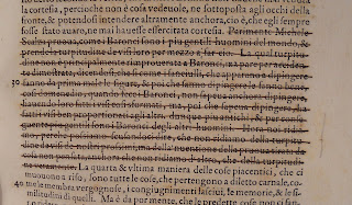 A closer image of the struck-through text.