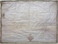 A handwritten charter.