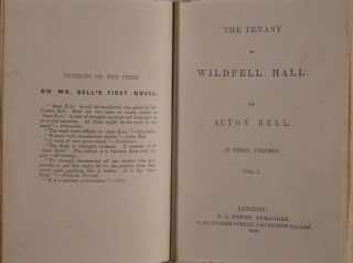 "A title page for ""The Tenant of Wildfell Hall."""