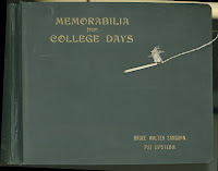 The cover of a memorabilia book belonging to Bruce Walter Sanborn.