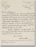 A handwritten letter to Stefansson.