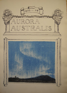 "The cover for ""Aurora Australis,"" which includes a blue landscape illustration."