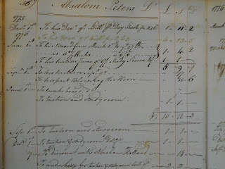 A page from a handwritten ledger.
