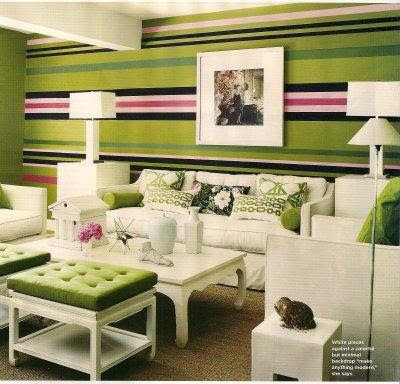 Wall Treatment For My Home Office:: Trees Or Horizontal Stripes?