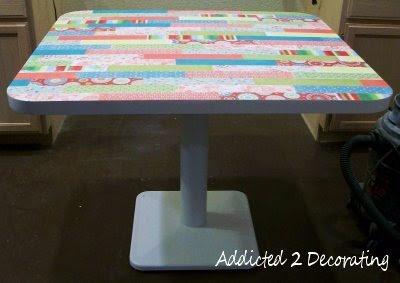 Plywood Table Top With Iron On Edge Banding Addicted 2 Decorating