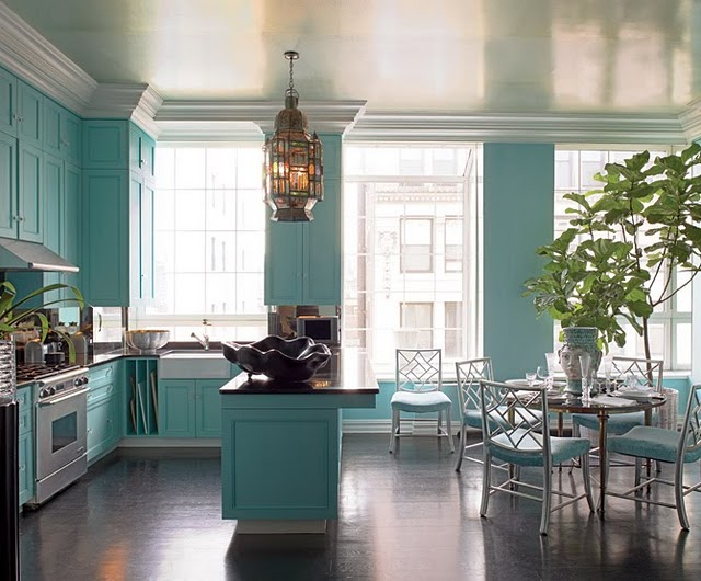 my lovely sister in law elaine asked me if i would help encourage her husband about bringing turquoise in the kitchen - Turquoise Kitchen