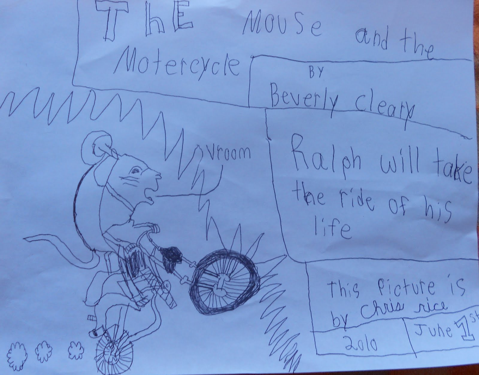 My Summer Art The Mouse And The Motorcycle
