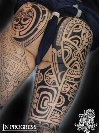 tatouage polynesien polynesian tattoo december 2010. Black Bedroom Furniture Sets. Home Design Ideas
