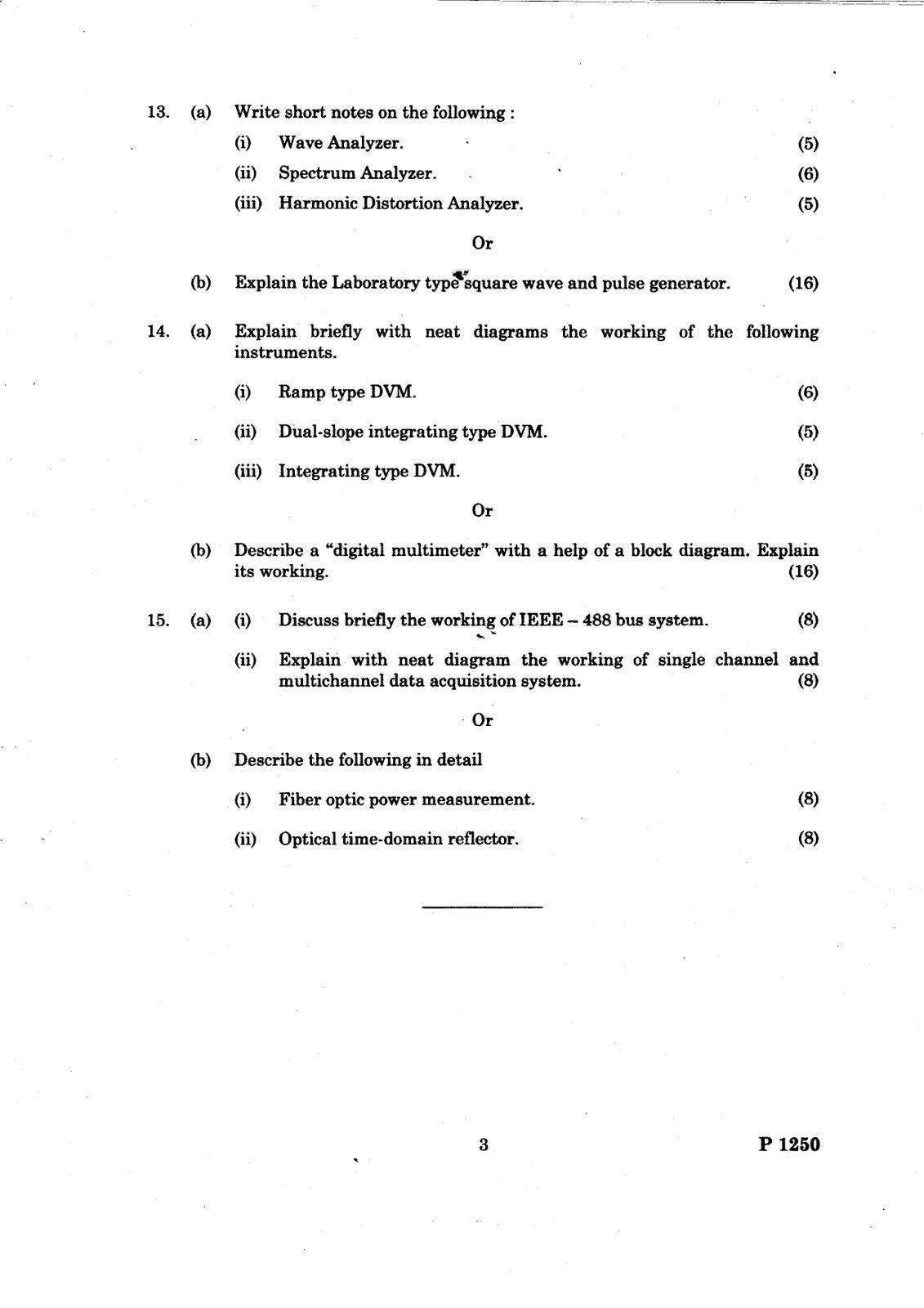 ANNA UNIVERSITY QUESTION BANK: MEASUREMENT AND INSTRUMENTATION