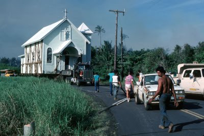 Star of the Sea Church during the move from Kalapana