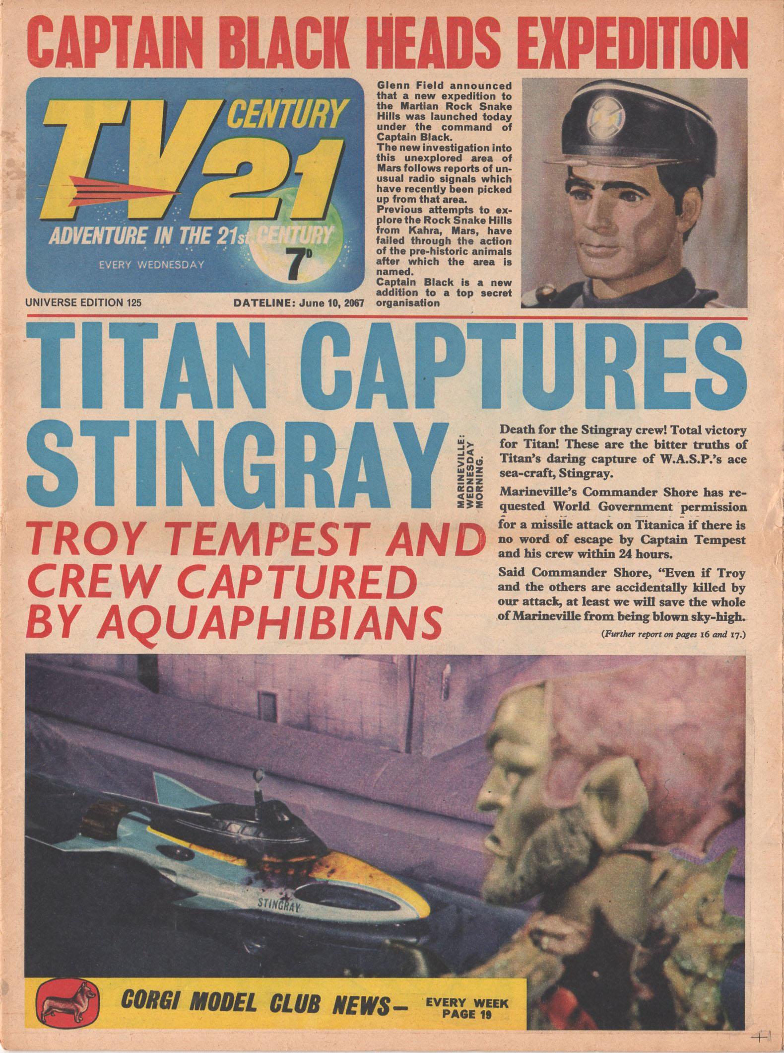 Read online TV Century 21 (TV 21) comic -  Issue #125 - 1