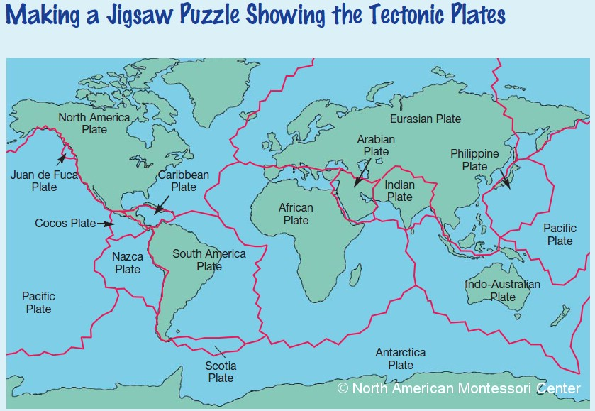 Plate Tectonics Map For Kids Tectonic plate puzzleTectonic Plates For Kids