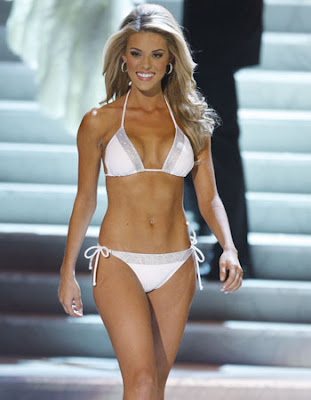 This is what Prejean wore for the bikini part of the pageant. Is it any worse than the racy photo?