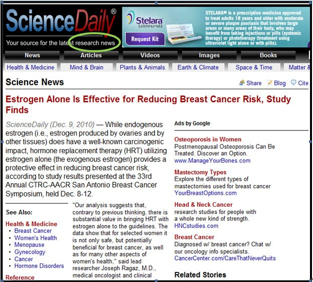 science daily surviving dealing chemobrain cancer