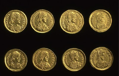 Roman coins in use in Britain during the Empire