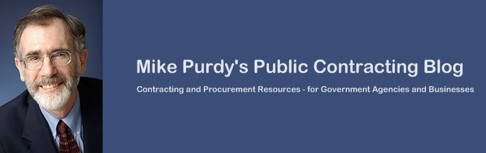 Mike Purdy's Public Contracting Blog