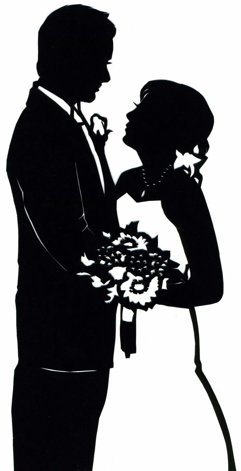 PaperPortraits.com: Custom Wedding Silhouette