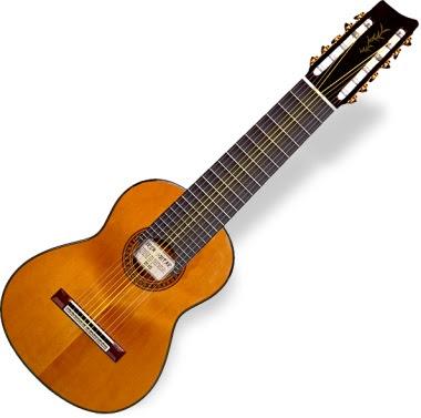 左右対称に弦を張ってあるシンメトリック・ギター